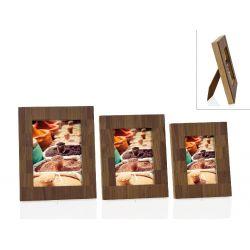 Mosaïq- Cadre photo design bois façon marqueterie - Andrea House