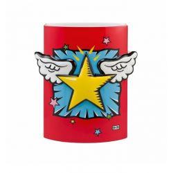 Super Star! Vase de Burton Morris avec décor en relief h24cm