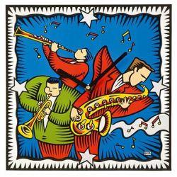 All that Jazz horloge murale style Pop Art de Burton Morris