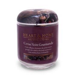 Bougie cire de soja parfumée Cerise Noire Heart & Home