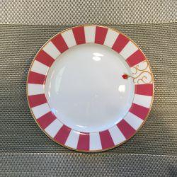Assiette plate ou dessert Bois de Rose Bernardaud porcelaine