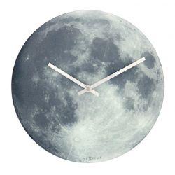 Blue Moon Nextime Horloge phosphorescente en verre 30 cm