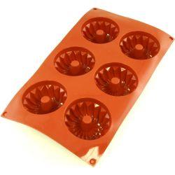Flexipad - Moule 6 mini Kouglof ou Babka silicone - Paderno