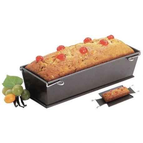 Moule à cake démontable 30cm acier revêtu anti-adhésif - Paderno