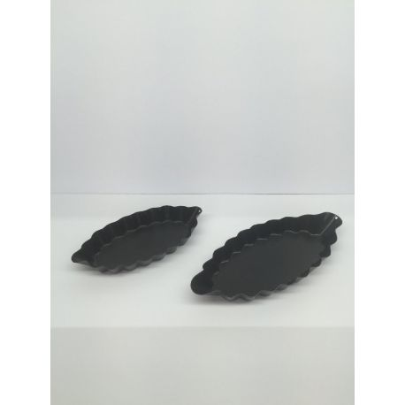 6 moules individuels barquettes cannelées anti-adhérent Paderno