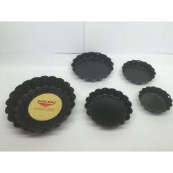 6 moules individuels tartelettes cannelées anti-adhérent Paderno