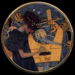 La Musique de Gustav Klimt - Miroir de poche refermable
