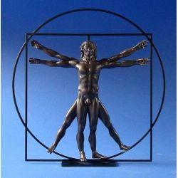 L homme de Vitruve Da Vinci - Statue 22 cm résine - Parastone