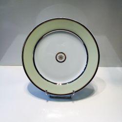 Assiette 21 et 26 cm Sparte Platine Bernardaud Porcelaine