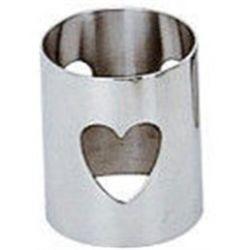 Girotondo - Rond de serviette coeur acier brillant - A di Alessi