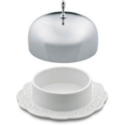 Dressed beurrier Alessi inox & porcelaine design M. Wanders