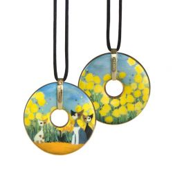 Pendentif reproduction d art en porcelaine Rosina Primavera