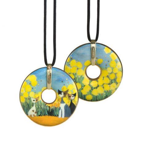 Pendentif reproduction d art en porcelaine Rosina Primavera
