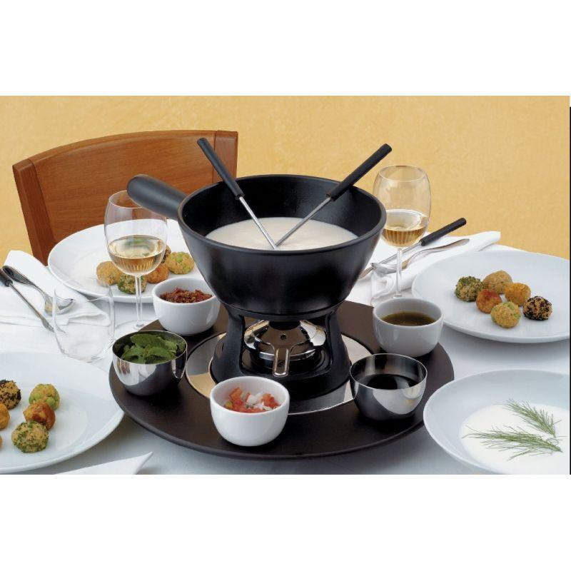 Caquelon pour fondue savoyarde ou chocolat c ramique alessi - Service a fondue savoyarde ...