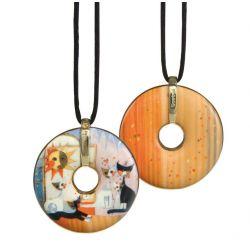 Pendentif reproduction d art en porcelaine Rosina Buongiorno
