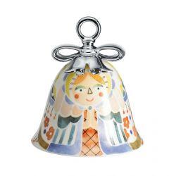 Boule Cloche de Noël Alessi porcelaine Holy Family Marie