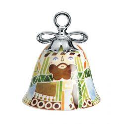 Boule Cloche de Noël Alessi porcelaine Holy Family Joseph