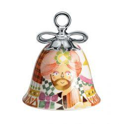 Boule Cloche de Noël Alessi porcelaine Holy Family Gaspar