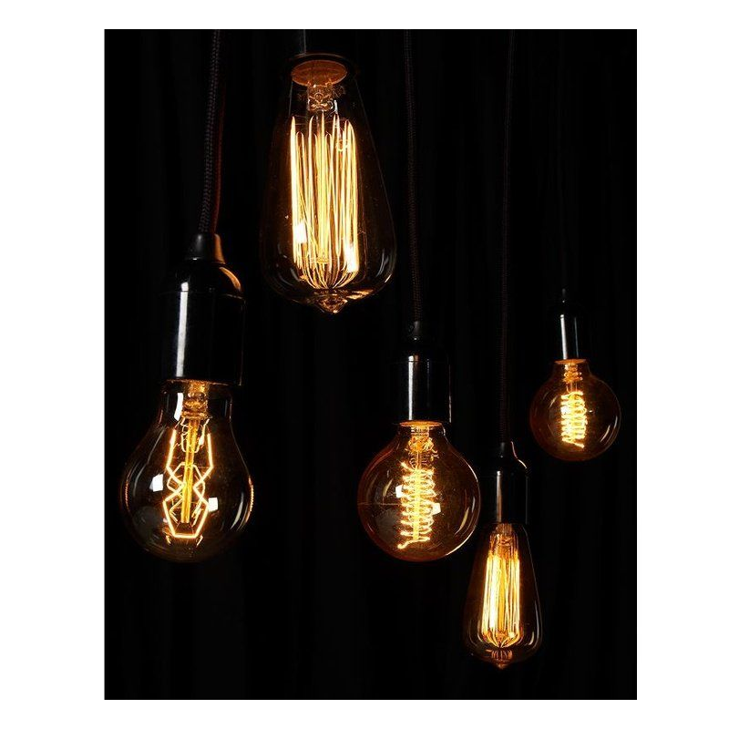 Rustic E27 - Ampoule Décorative Filament Visible -Calex