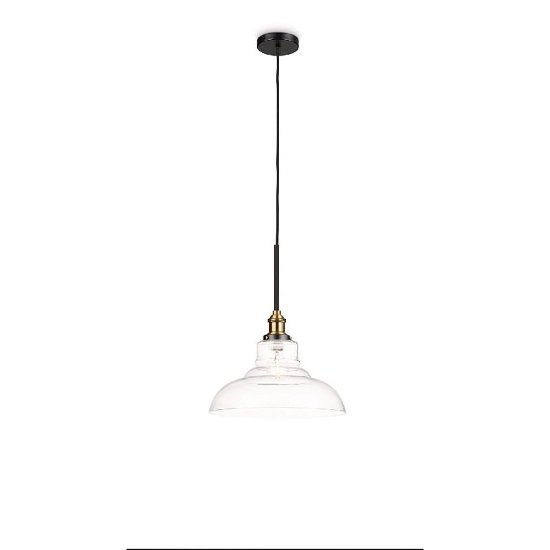 Suspension vintage atelier industriel verre philips hastings - Suspension vintage industriel ...