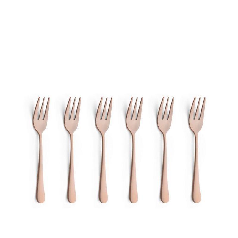 austin amefa 6 fourchettes g teau noir mat cuivre ou or. Black Bedroom Furniture Sets. Home Design Ideas