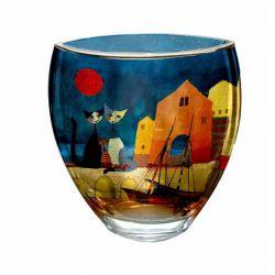 I Colori del tramonto vase 21 cm en verre décoré par Artis Orbis