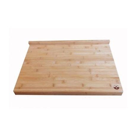 Grande planche à découper en bambou avec rebords 60x40x4 cm
