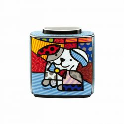 Ginger - Vase Pop Art porcelaine 16 cm, d après Romero Britto