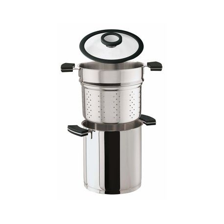 12 o clock pasta set marmite cuit p te induction sambonet. Black Bedroom Furniture Sets. Home Design Ideas
