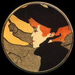 Divan japonais Toulouse-Lautrec - Miroir de poche refermable