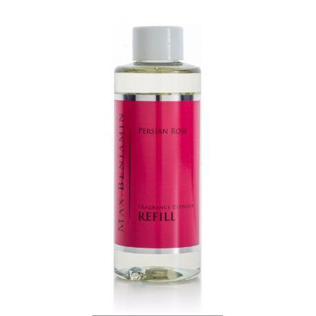 Max Benjamin Recharge 150 ml pour diffuseur de parfum Rose perse