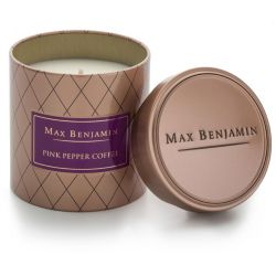Max Benjamin bougie parfumée 100% naturelle Poivre rose & café