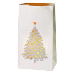Räder Set de 2 photophores sacs en papier, Décor sapin de Noël
