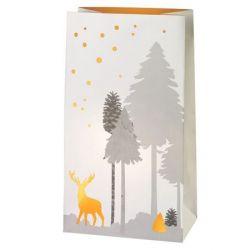 Räder Set de 2 sacs en papier photophore, Décor renne en forêt