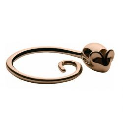 Pip porte-clés Alessi en gold pink