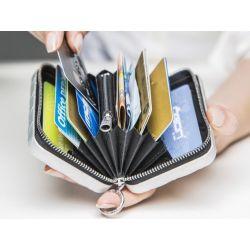 Ögon Portefeuille Quilted Zip aluminium pour cartes et monnaie