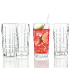Spiritii Leonardo Coffret 4 verres long drink 40 cl