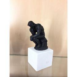 Le Penseur de Rodin Statuette bleue noire 23x11x9,5cm - Sophia