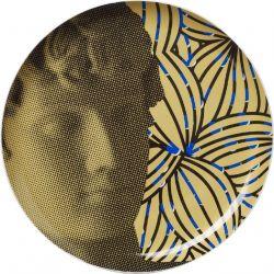 Antinous Flower, Assiette murale décorative 30 cm en porcelaine