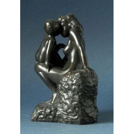 La jeune mère de Rodin - Statue 16 cm aspect bronze - Parastone