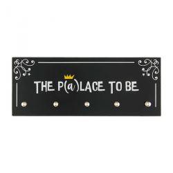 The p(a)lace to be - Accroche clés en verre - Derrière la Porte