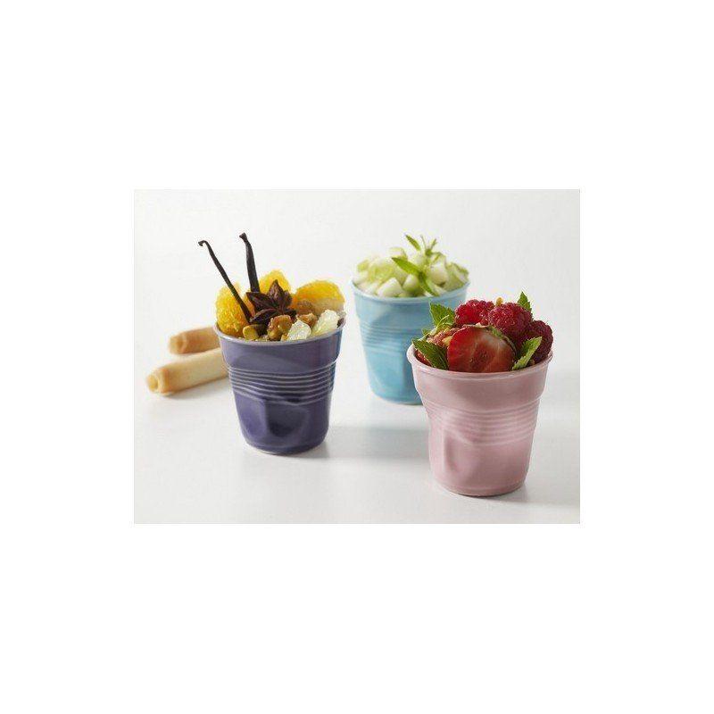 Gobelet froiss gris revol tasse espresso 8 cl porcelaine for Pot a couverts cuisine