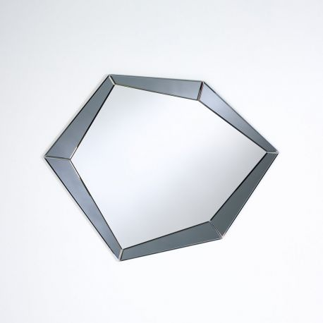 Polygon grey miroir contemporain deknudt mirrors 90x71 cm for Miroir contour gris