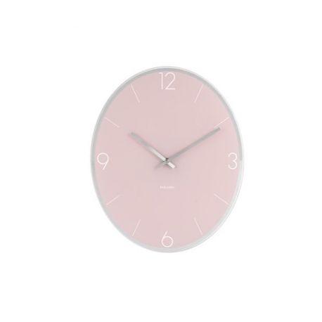 Elliptical Karlsson Horloge murale ovale en verre 39x32cm