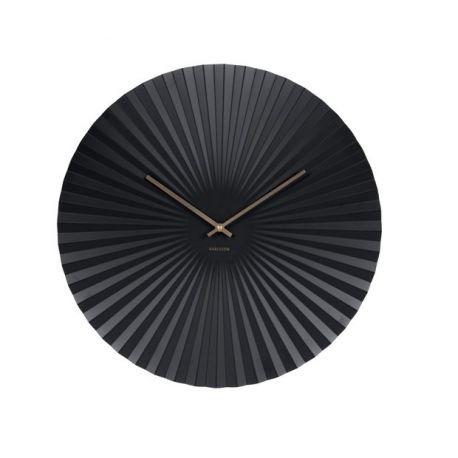 Sensu XL Karlsson Horloge murale ovale en métal 50cm