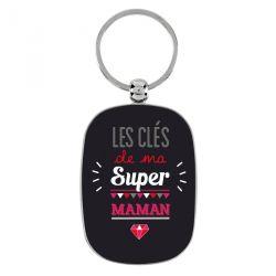 Ma super maman - Porte-clés métal - Derrière la Porte