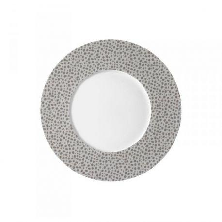 Baghera platine Médard de Noblat assiettes plates ou à dessert