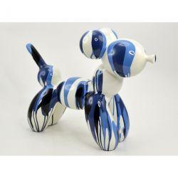 Eliott, Sculpture Balloon dog bleu, résine hauteur 40 cm Drimmer