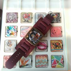 Stamps - Bracelet large - Violet