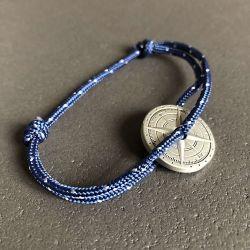 Marin bracelet corde bleu blanc boussole Le Vent à la Française